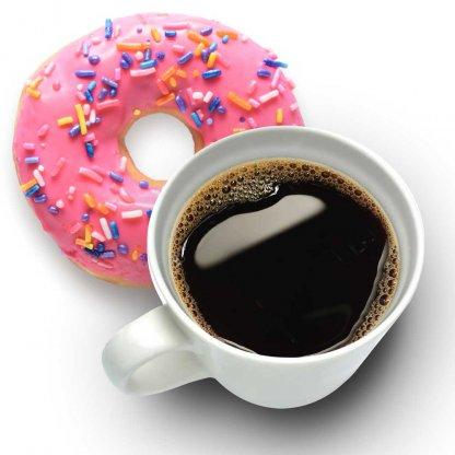 Koffie met een donut