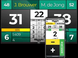Biljart scorebord Carambole variant. Digitaal of elektronische variant van een traditioneel scorebord - Biljartteller